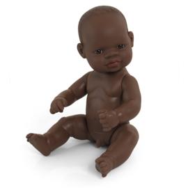 Babypop Afrikaans, jongen,  32 cm.