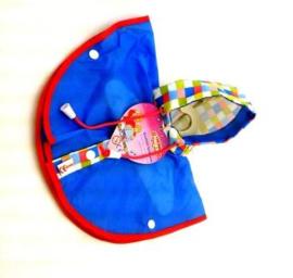 Regencape blauw, 32 cm.