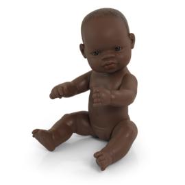 Babypop Afrikaans, meisje,  32 cm.