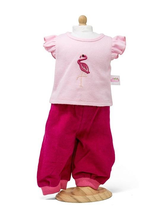 Roze broek met shirt, 38 cm.