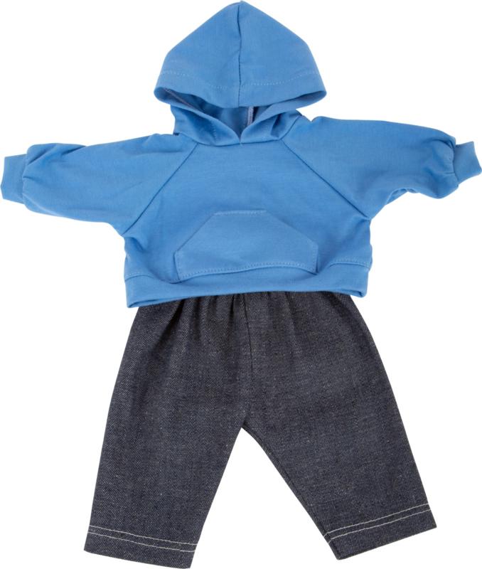 Jeans met hoodie, 40 cm.