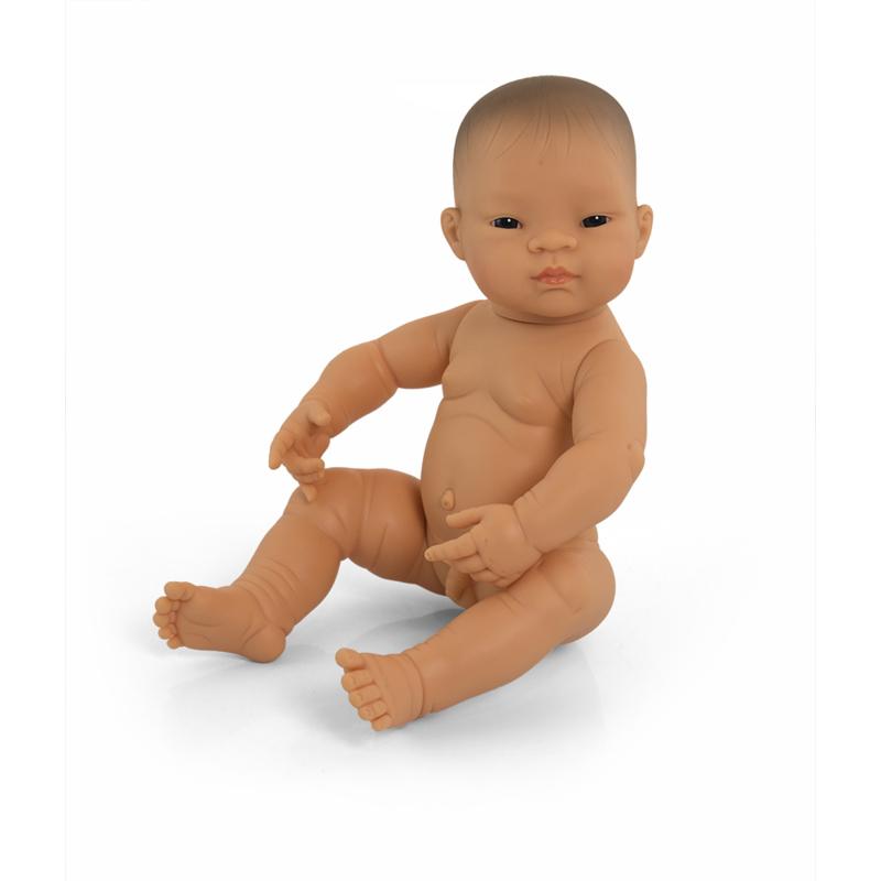 Babypop Aziatisch  jongen 40 cm.