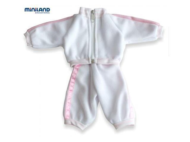 Joggingpak roze/wit, 32 cm.