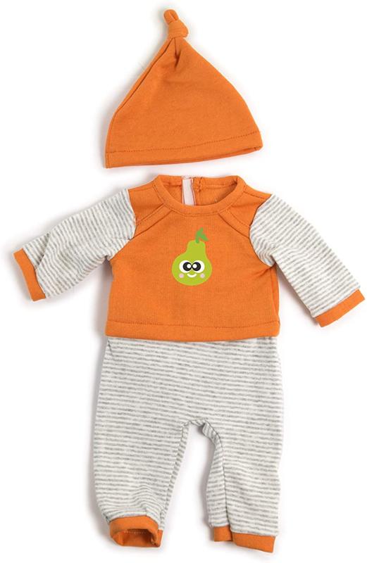 Pyjama met muts, oranje 38 - 40 cm.