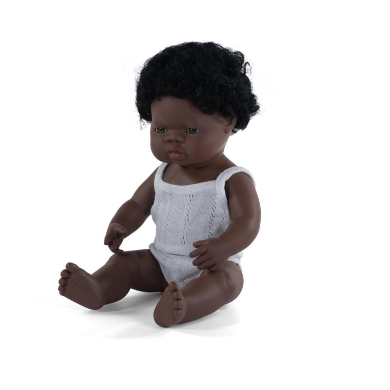 Afrikaanse pop met kroeshaar, jongen