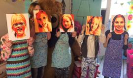 Pop-Art voor tieners! Schilder een selfie