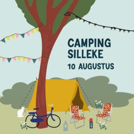 Kom 10 augustus op de camping