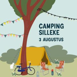 Kom 3 augustus op de camping