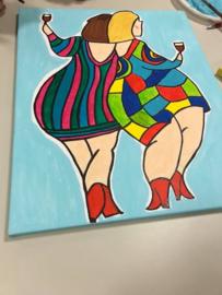 Dikke damesschilderen