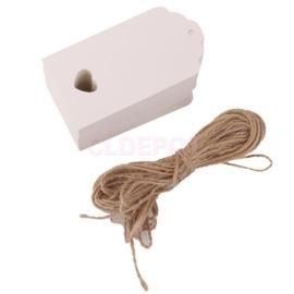 05. 5 gekleurde kartonnen labels incl. touw