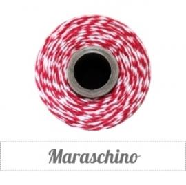 17.02 Baker`s twine rood / wit Maraschino