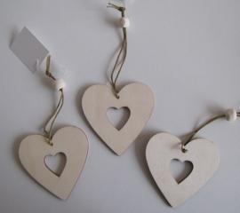 04. Houten hangers: hart