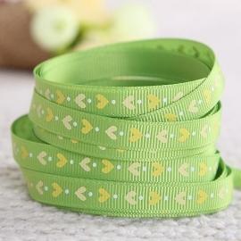 10.08 Groen lint met hartjes