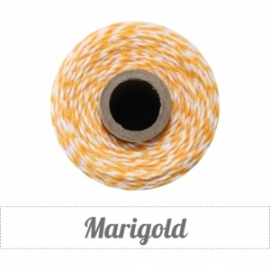 17.01 Baker`s twine oranje / wit Marigold
