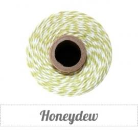 17.02 Baker`s twine licht groen / wit Honeydew