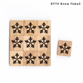 11.02 Houten scrabble blokje: sneeuwvlokje