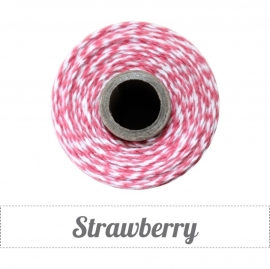 17.02 Baker`s twine rood / wit Strawberry