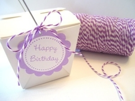 17.02 Baker`s twine donker paars / wit Lilac