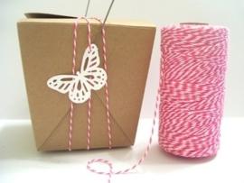 17.02 Baker`s twine roze / wit Pink Sorbet