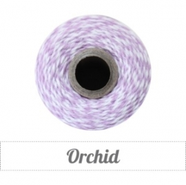 17.02 Baker`s twine licht paars / wit Orchid