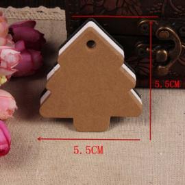 05. 5 kartonnen kerstboompjes