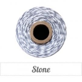 17.02 Baker`s twine grijs / wit Stone