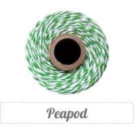 17.02 Baker`s twine donker groen / wit Peapod