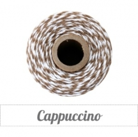 17.02 Baker`s twine donker bruin / wit Cappuccino