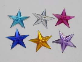 04. Gekleurde sterren flatback