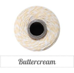 17.02 Baker`s twine geel / wit Buttercream