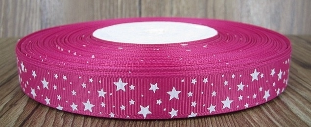 10.00 Roze lint met witte sterren