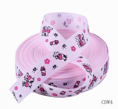 10.00 Roze lint met koeien