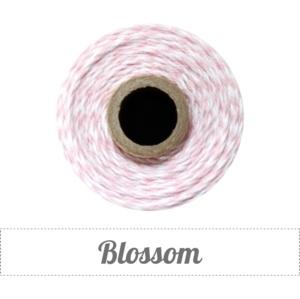 17.02 Baker`s twine licht roze / wit Blossom