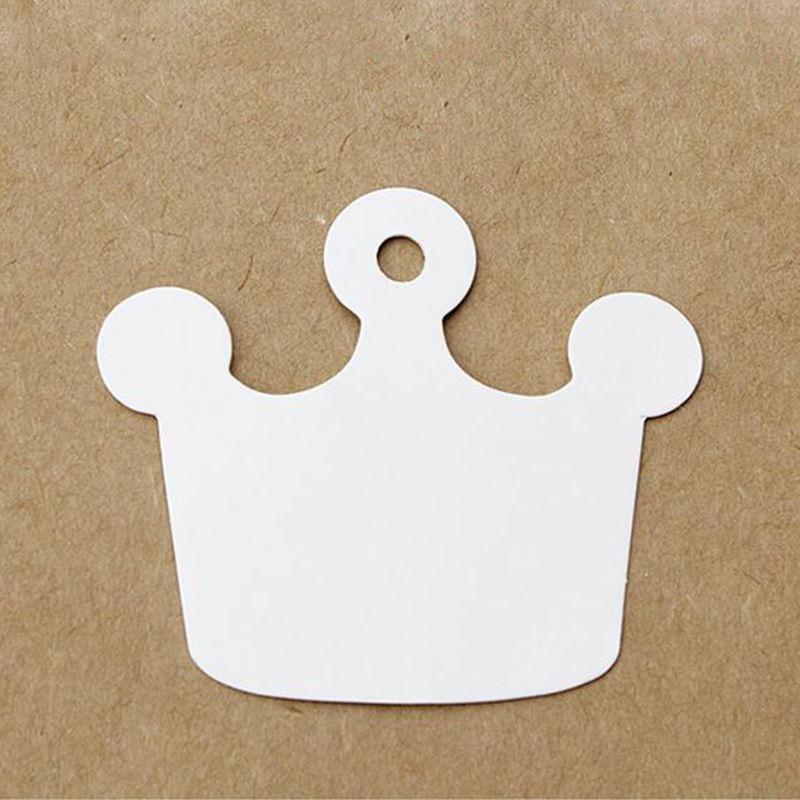 05. 5 kartonnen kroontjes labels wit