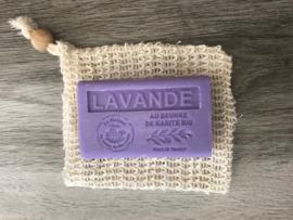 sisal scrub-peeling zeep zakje