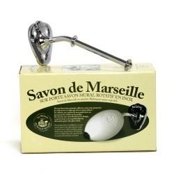 porte savon rotatif (zilverkleurig) / Seifenhalter