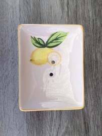 zeepschaaltje met citroen motief / Seifenschale mit Zitrone Motiv