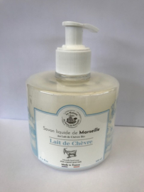 vloeibare savon de marseille met lait de chèvre (geitenmelk)