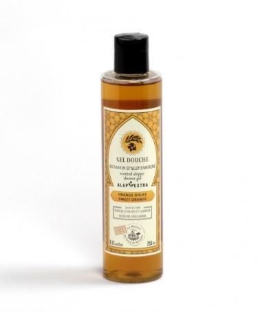 Alep douche gel orange douce met laurier- en olijfolie