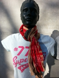 SUPER DRY SUPER UNITED SCARF
