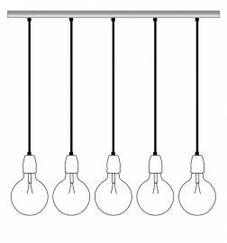 Lichtlab hanglamp balk 5 lichts