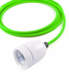 het lichtlab hanglamp neon groen strijkijzer snoer