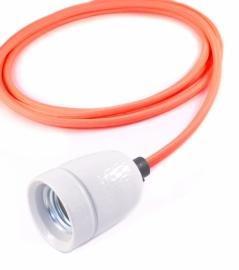 het lichtlab hanglamp neon oranje strijkijzer snoer