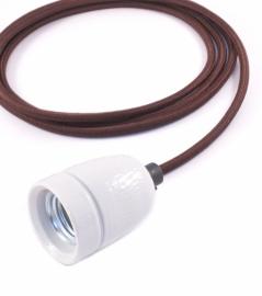 Het lichtlab hanglamp bruin strijkijzer snoer