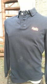 Vintage Destroyed LS-Polo Eclipse Navy