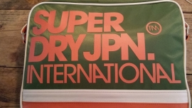 Superdry Nylon international bag Cadet green