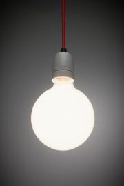 Lichtbron voor retro lamp met snoer Het Lichtlab globe 125mm opaal