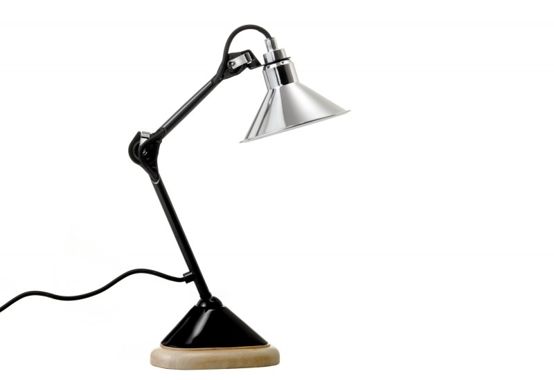 La Lampe Gras no. 207 zwart(glans)-chroom