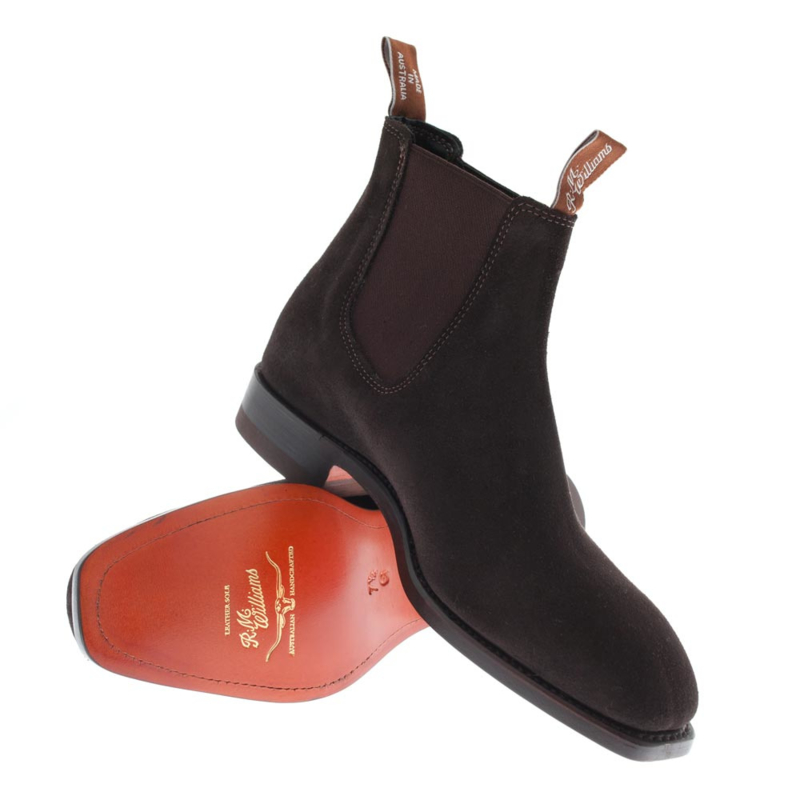 R.M. Williams craftsmen chocolate  suede