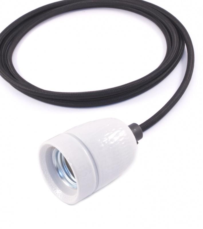 het lichtlab hanglamp zwart strijkijzer snoer